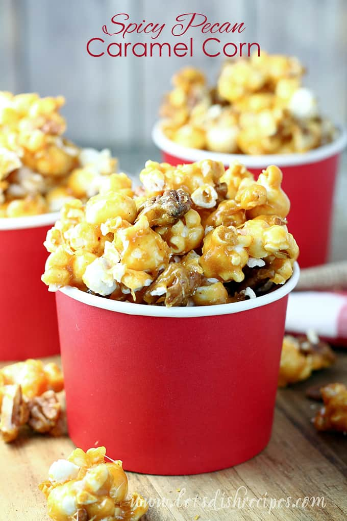 Spicy Pecan Caramel Corn