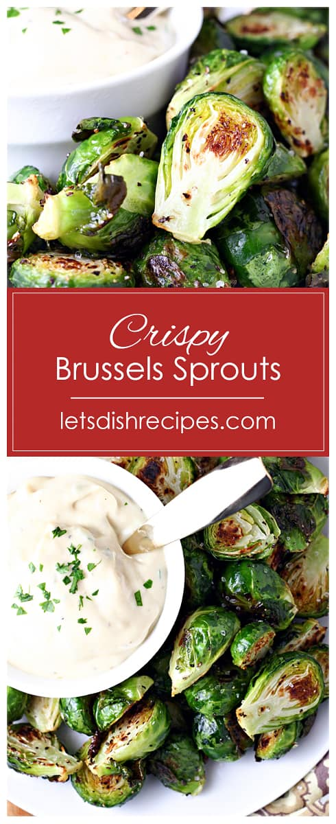 Crispy Brussels Sprouts with Mustard Aioli