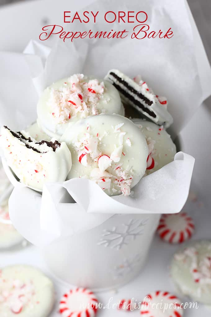 Easy Oreo Peppermint Bark