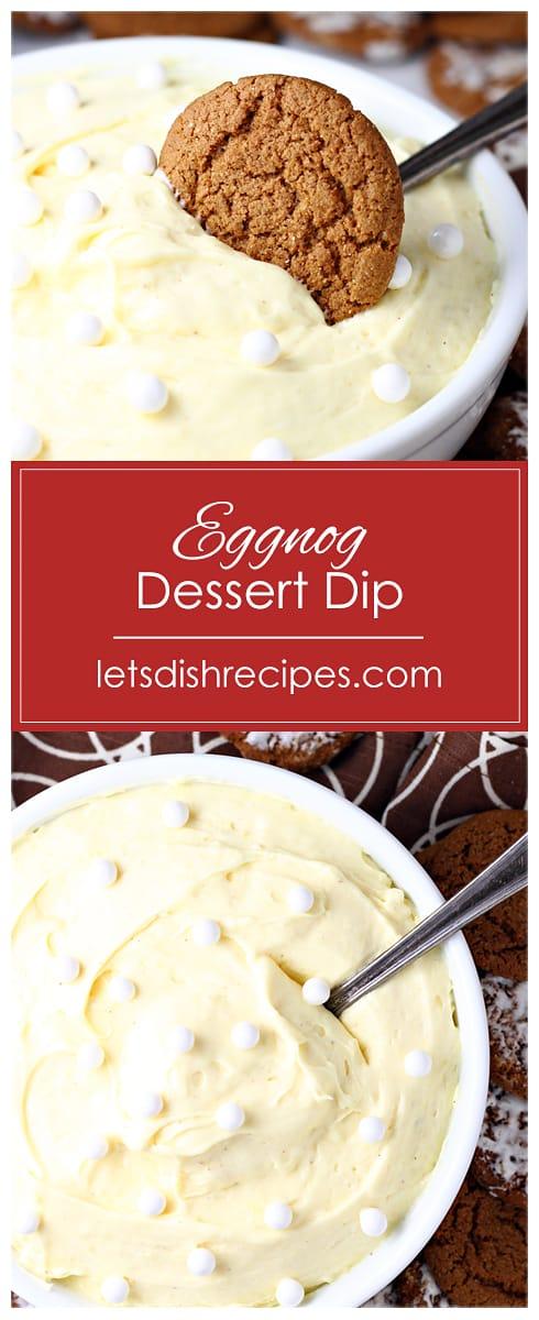 Eggnog Dessert Dip