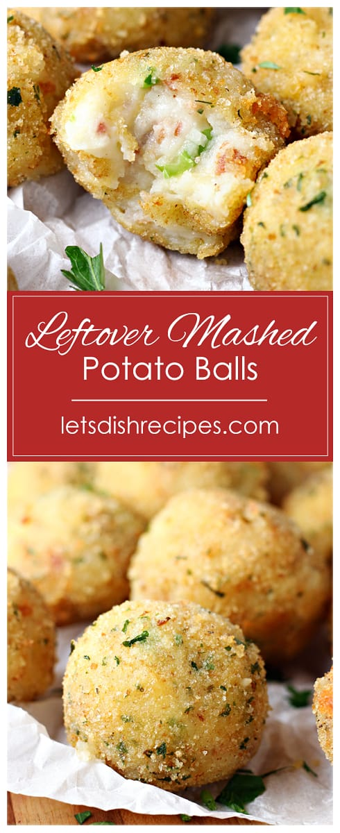 Leftover Mashed Potato Balls
