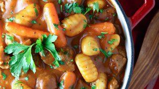 Potato Gnocchi Beef Stew