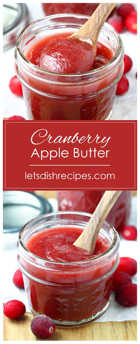 Slow Cooker Cranberry Apple Butter