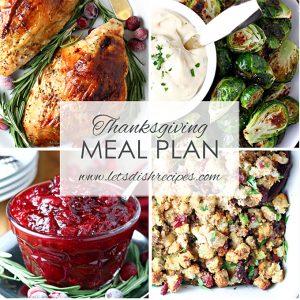 Thanksgiving Meal Plan