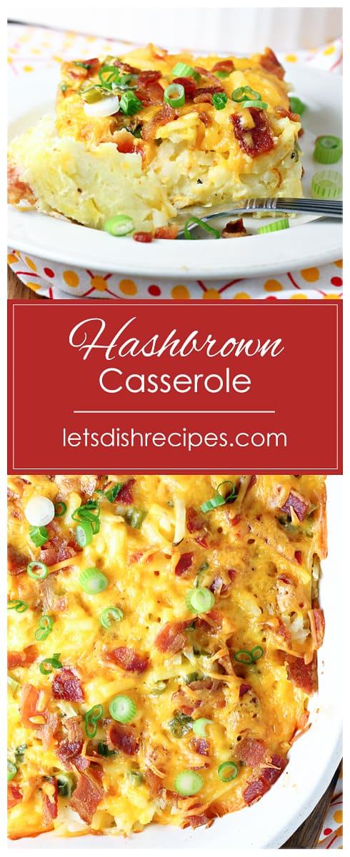 Cheesy Bacon Egg Hashbrown Casserole