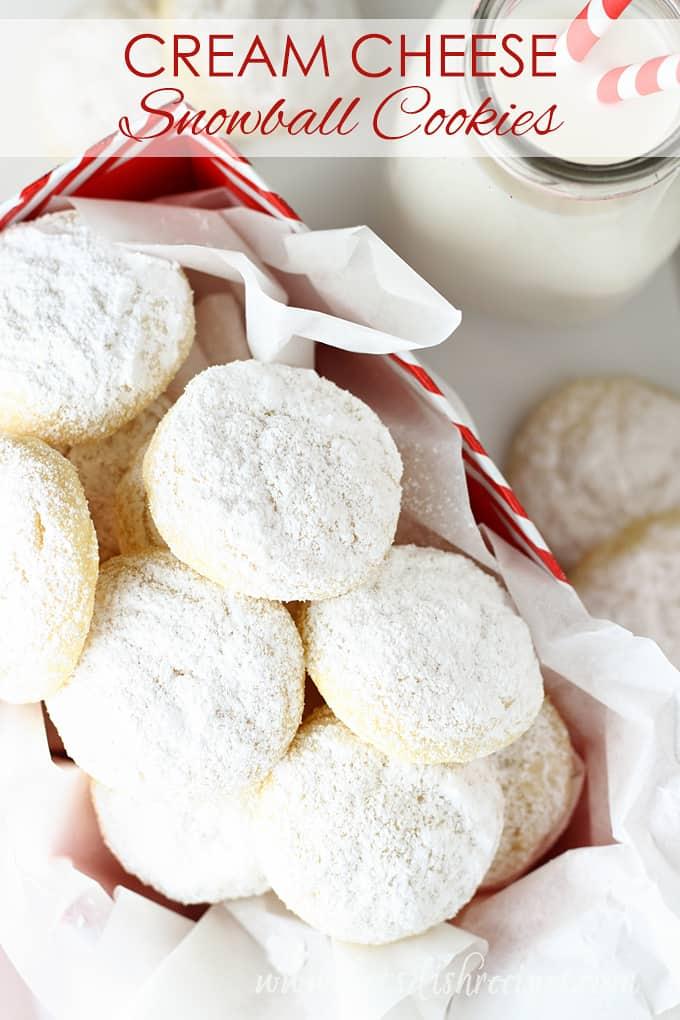 Cream Cheese Snowball Cookies