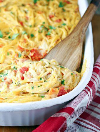 Rotel Chicken Spaghetti