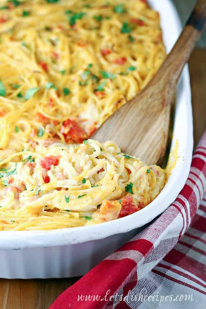 Rotel Chicken Spaghetti — Let's Dish Recipes