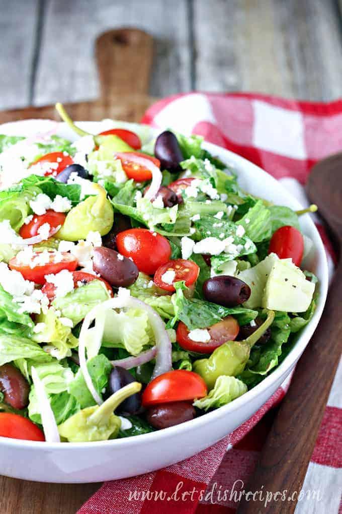 Copycat Panera Greek Salad