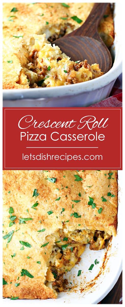 Crescent Roll Pizza Casserole