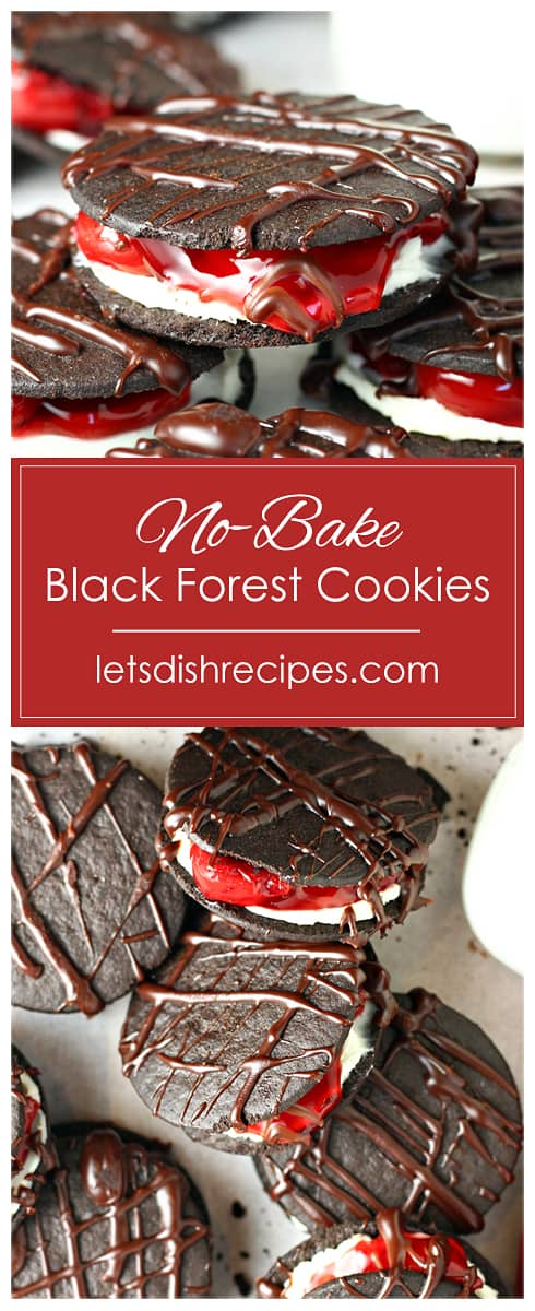 No-Bake Black Forest Cookies