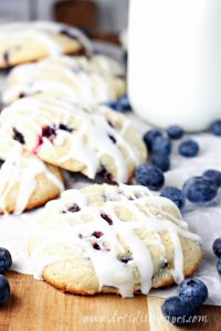 Blueberry Muffin Cookies with Lemon Glaze