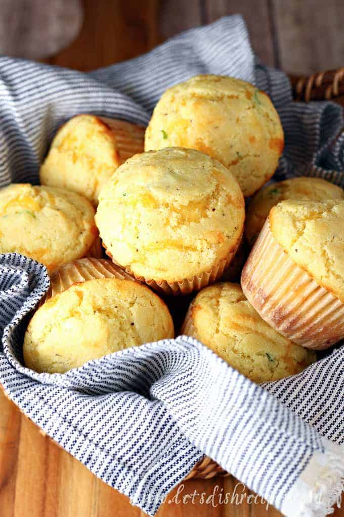 Cheddar Chive Corn Muffins
