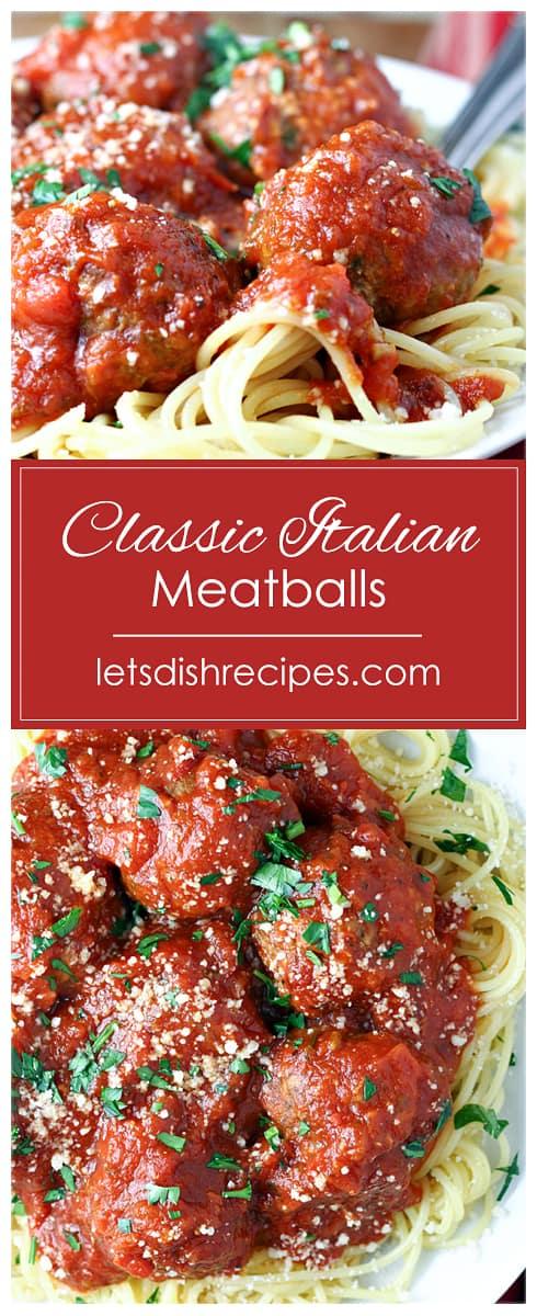 Classic Italian Meatballs