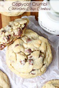 Copycat Crumbl Chocolate Chip Cookies