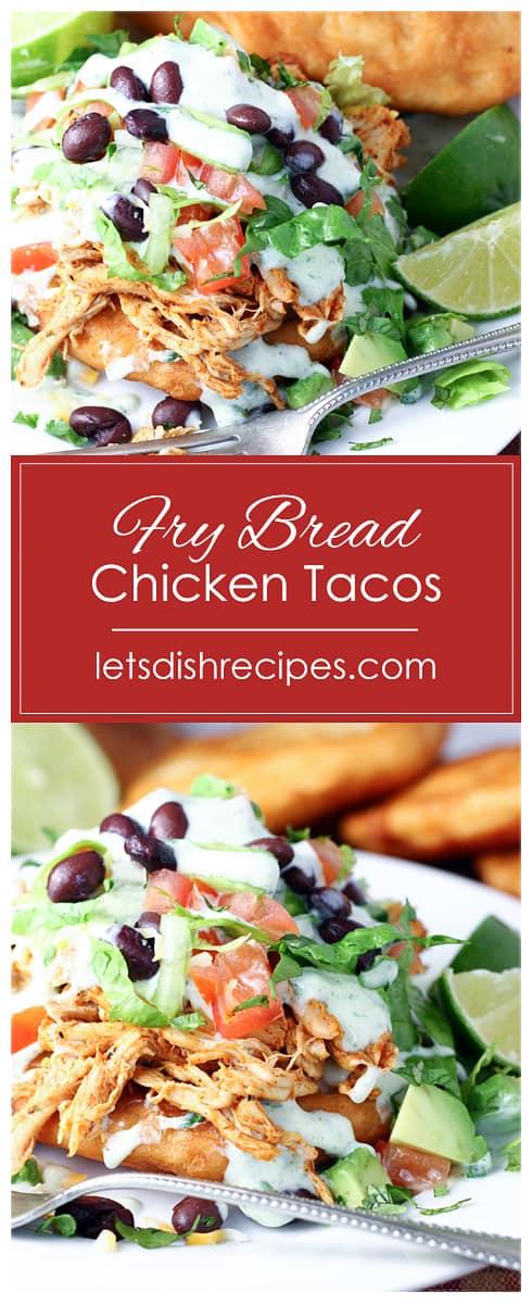 Easy Fry Bread Chicken Tacos