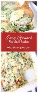 Easy Spinach Ravioli Bake