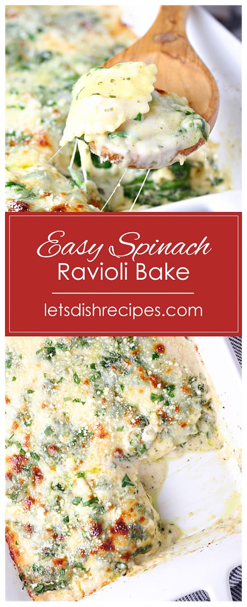 Easy Spinach Ravioli Bake