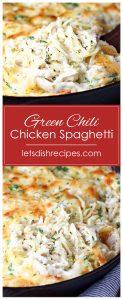 Green Chili Chicken Spaghetti