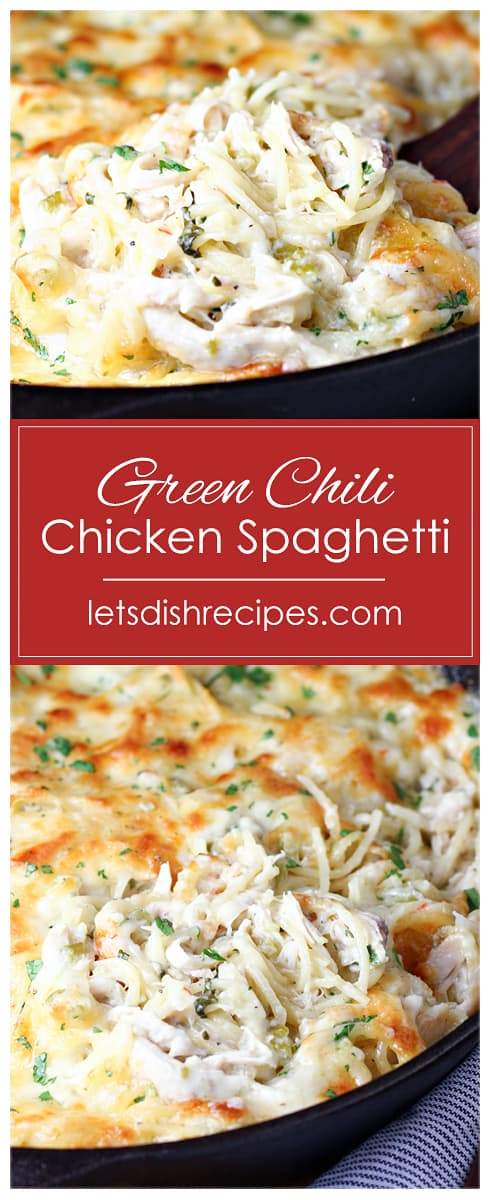 Green Chili Chicken Spaghetti