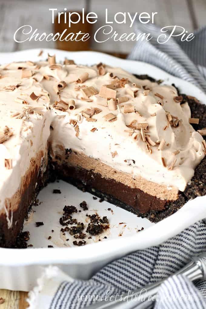 Triple Layer Chocolate Cream Pie