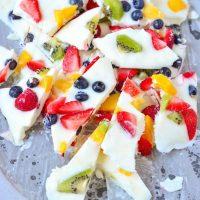 Frozen Yogurt Fruit Bark Recipe