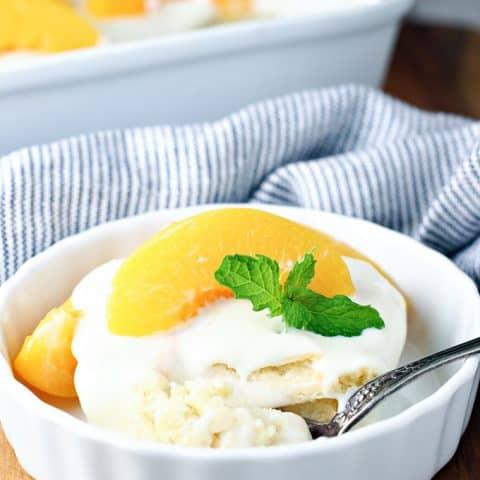 Peach Carlota Dessert