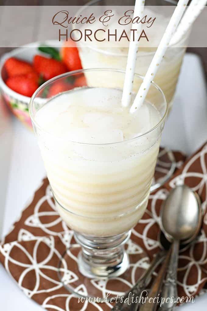 Quick and Easy Horchata
