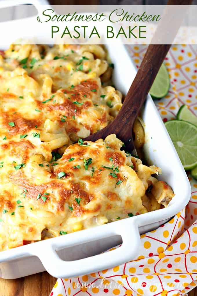 Southwest Chicken Pasta Bake