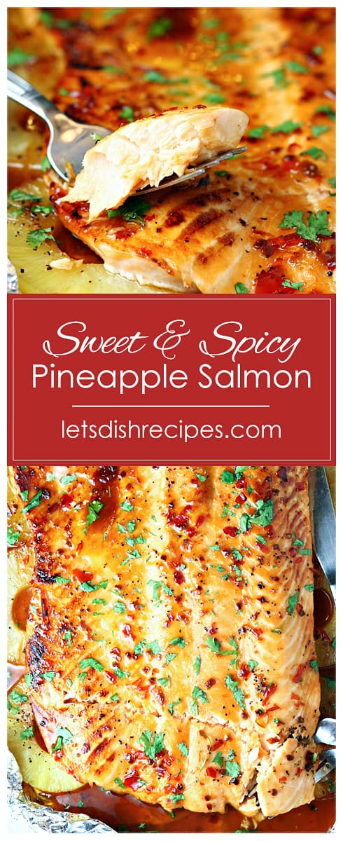 Sweet and Spicy Pineapple Salmon