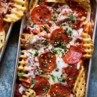 Waffled Pizza Fries