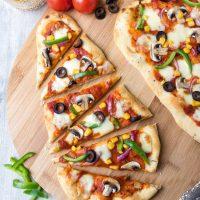 10-Minute Naan Bread Pizza
