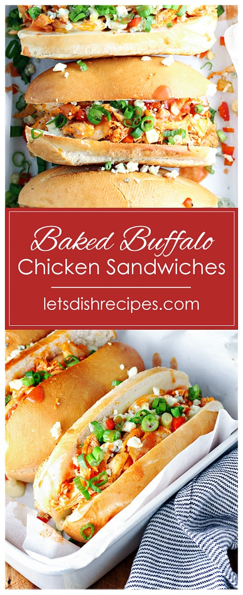 Baked Buffalo Chicken Sandwiches