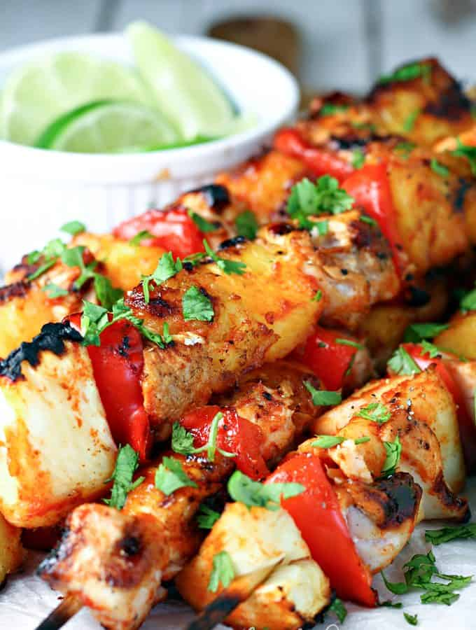 Honey Sriracha Chicken Kabobs