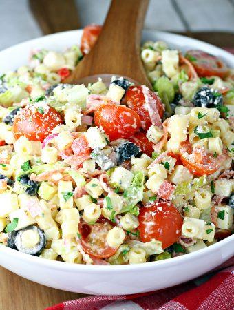 Italian Hoagie Pasta Salad