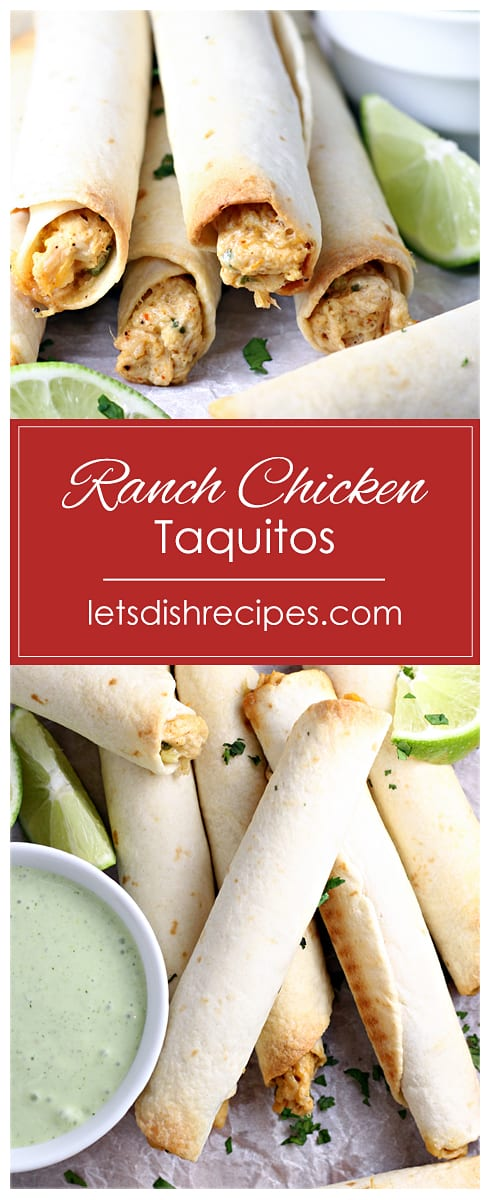 Ranch Chicken Taquitos