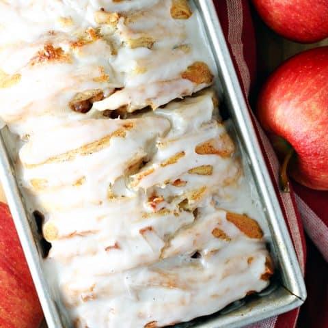 Easy Apple Fritter Pull-Apart Bread