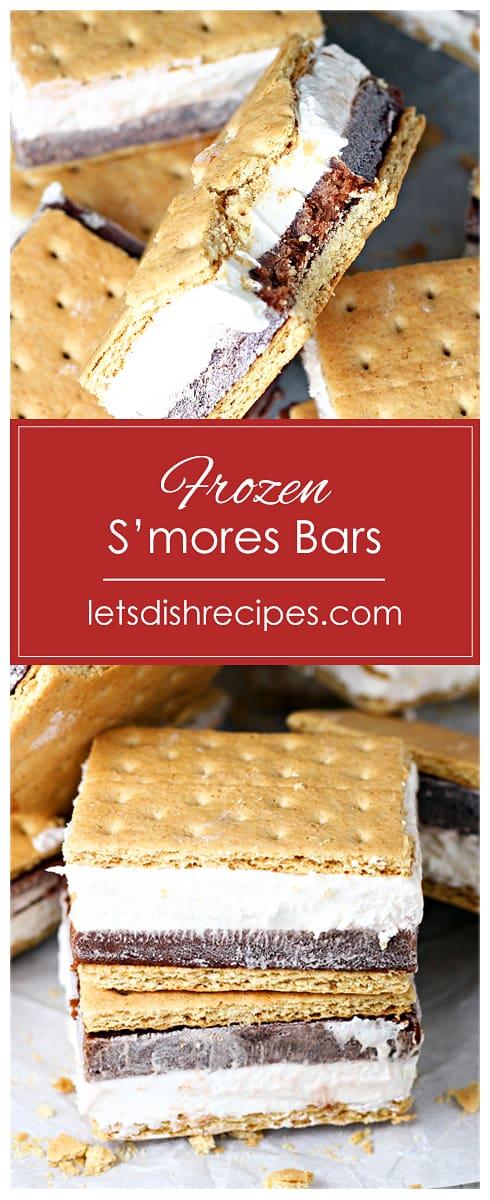 Frozen S'mores Bars