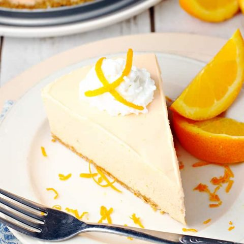 No-Bake Orange Creamsicle Cheesecake