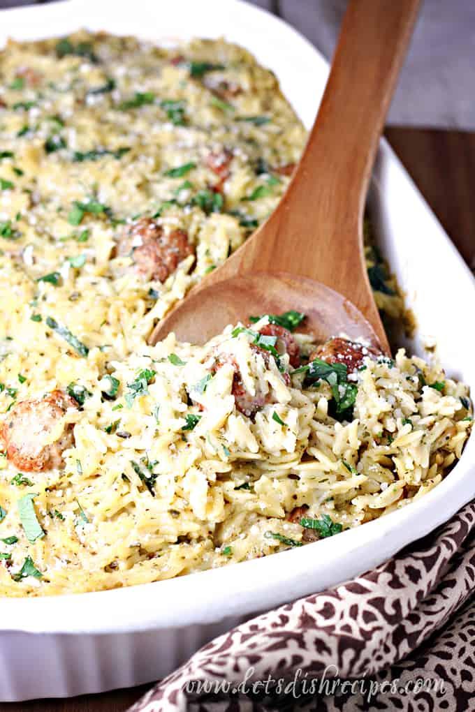 Easy Meatball Orzo Casserole
