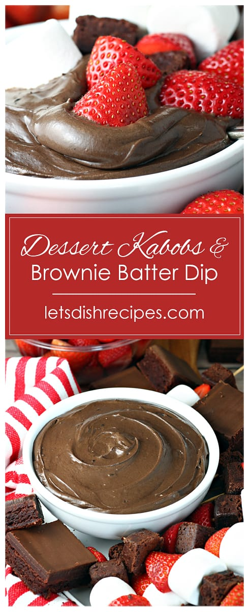 Game Day Dessert Kabobs With Brownie Batter Dip