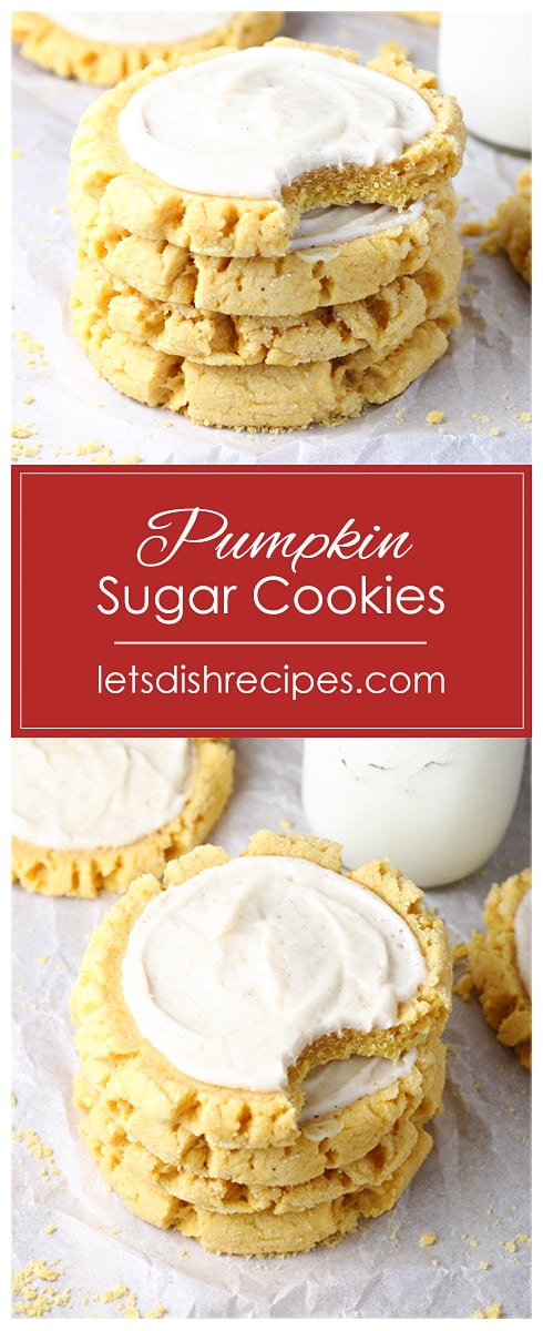 Frosted Pumpkin Sugar Cookies