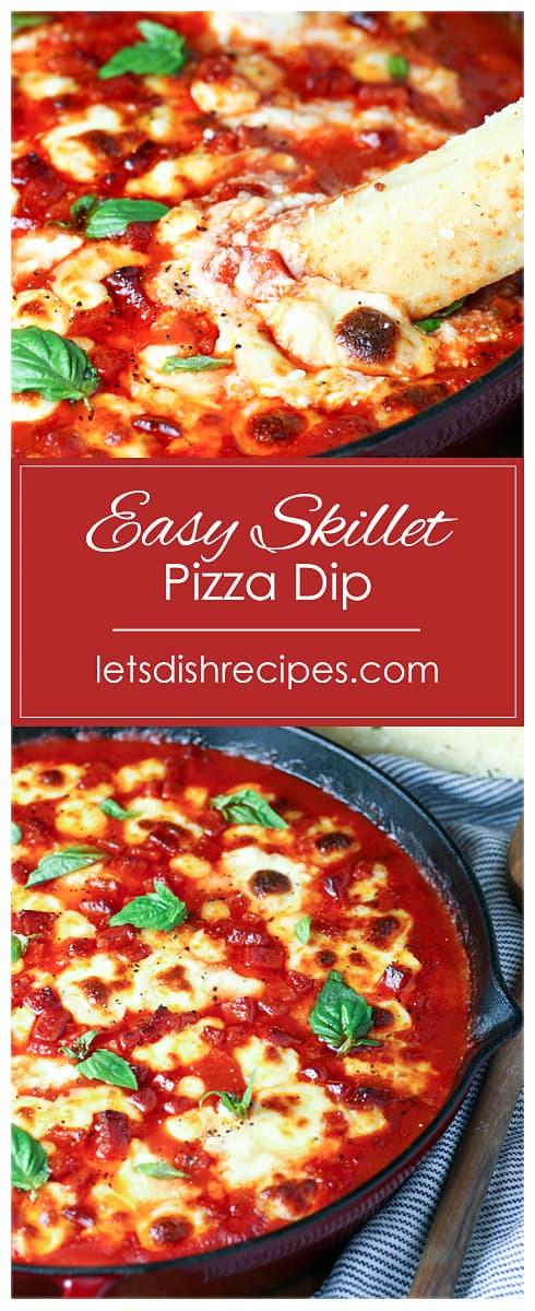 Easy Skillet Pizza Dip