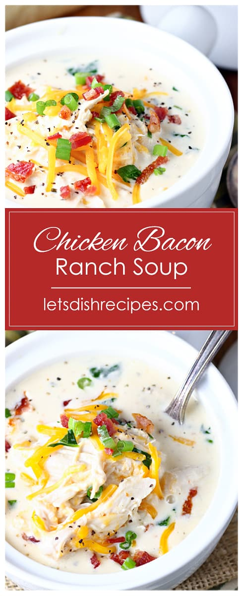 Slow Cooker Chicken Bacon Ranch Soup