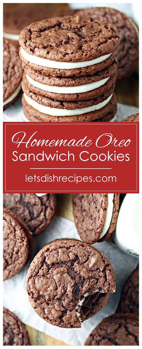 Homemade Oreo Sandwich Cookies