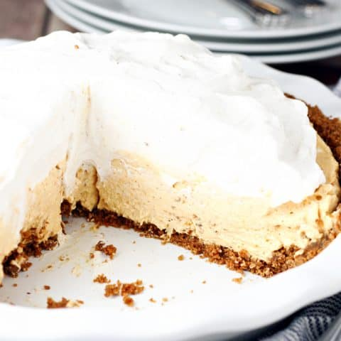 No-Bake Pumpkin Mousse Pie