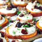 Sweet Potato Rounds with Cranberries and Candied Pecans