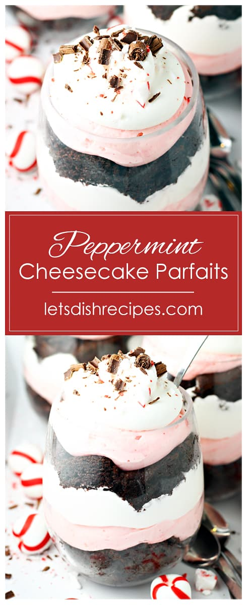 Chocolate Peppermint Cheesecake Parfaits