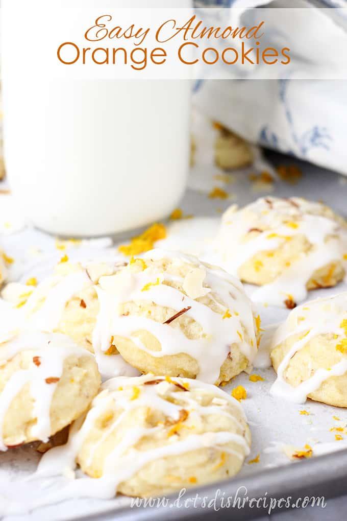 Easy Almond Orange Cookies