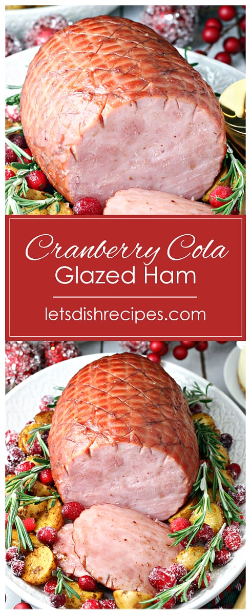 Slow Cooker Cranberry Cola Glazed Ham